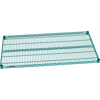"""Nexel® S1472G Poly-Green® Epoxy Wire Shelf 72""""W x 14""""D"""