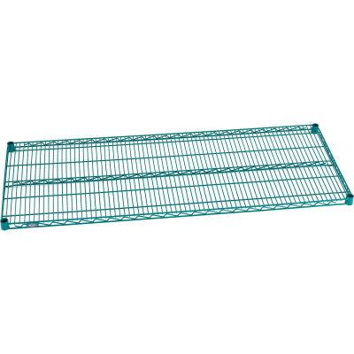 """Nexel® S2460G Poly-Green® Wire Shelf 60""""W x 24""""D"""
