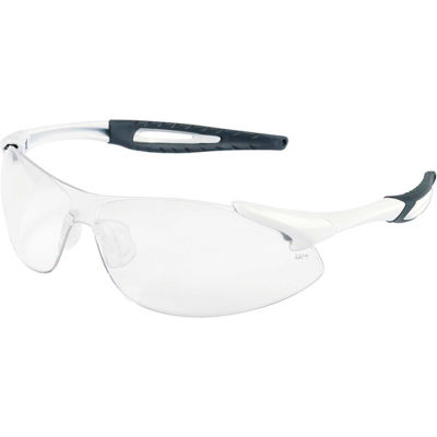 MCR Safety IA130AF Inertia® Safety Glasses, White Frame, Clear Anti-Fog Lens
