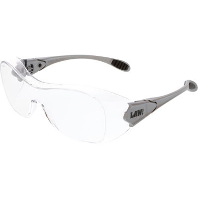 MCR Safety OG110AF Law® Over the Glasses Safety Glasses, Clear Anti-Fog Lens
