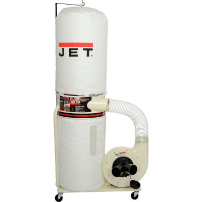 JET 708657K Model DC-1100VX-BK 1.5HP 1-Phase 115/230V 30-Micron Dust Collector W/ Bag Filter Kit
