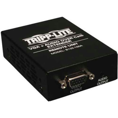 Tripp Lite VGA with Audio over Cat5/Cat6 Extender, Box-Style Receiver, Up to 1000 ft., TAA