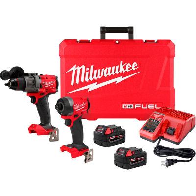 Milwaukee 2997-22 M18 FUEL Li-Ion Cordless Brushless Hammer Drill/Impact Driver 2-Tool Combo Kit