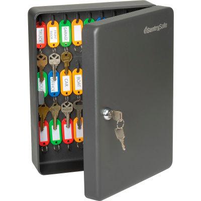 "SentrySafe 50 Key Capacity KB-50 Key Box, Key Lock, 9-7/16""W x 3-15/16""D x 11-13/16""H, Black"