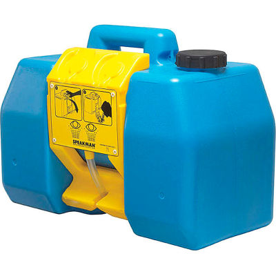 Speakman® GravityFlo® Gravity Operated 9 Gallon Portable Eyewash SE-4400, Blue/Yellow
