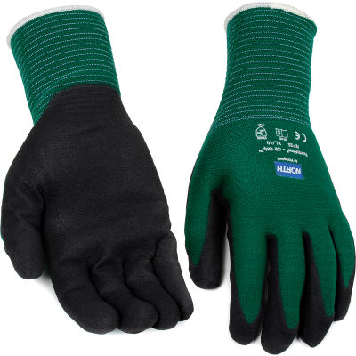 North® Flex Oil Grip™ Nitrile Coated Gloves, North Safety NF35/10XL, Green, 1 Pair - Pkg Qty 12