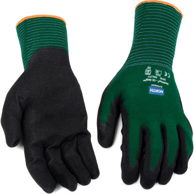 North® Flex Oil Grip™ Nitrile Coated Gloves,  NF35/11XXL, Green, 1 Pair