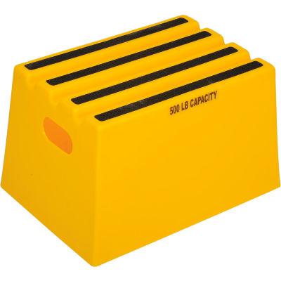"1 Step Plastic Step Stand - Yellow 13-3/4""W x 19-1/4""D x 11-3/4""H - ST18-14"