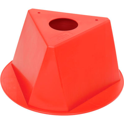 Inventory Control Cone, 3 Sided - Red