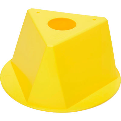 Inventory Control Cone, 3 Sided - Yellow