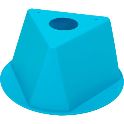 Inventory Control Cone, 3 Sided - Turquoise