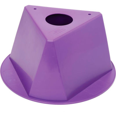 Inventory Control Cone, 3 Sided - Purple
