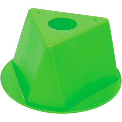 Inventory Control Cone, 3 Sided - Lime