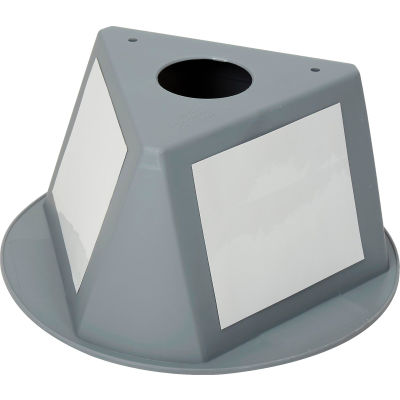 Inventory Control Cone, 3 Sided with Dry Erase Decals - Gray