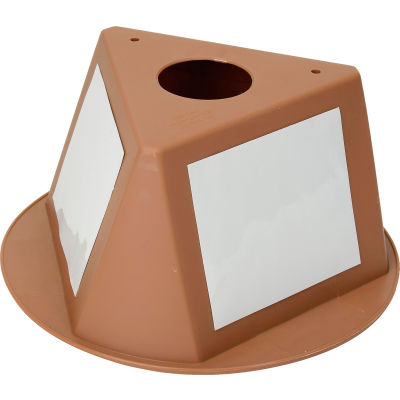 Inventory Control Cone, 3 Sided with Dry Erase Decals - Tan