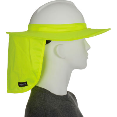 Ergodyne® Chill-Its® 6660 Hard Hat Brim with Shade, Lime, One Size