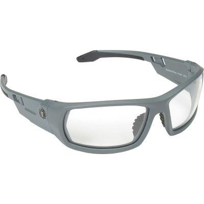 Ergodyne® Skullerz® Odin Safety Glasses W/Fog-Off, Clear AF Lens, Matte Gray Frame