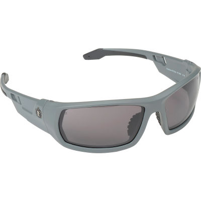 Ergodyne® Skullerz® Odin Safety Glasses W/Fog-Off, Smoke AF Lens, Matte Gray Frame