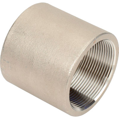 2 In. 304 Stainless Steel Coupling - FNPT - Class 150 - 300 PSI - Import