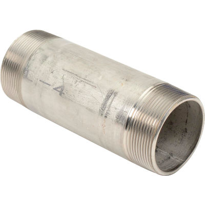 2 In. X 6 In. 304 Stainless Steel Pipe Nipple - 16168 PSI - Sch. 40 - Domestic