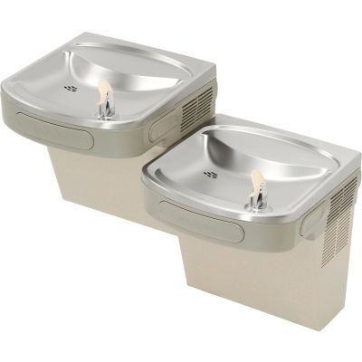 Elkay ADA Barrier Free Water Cooler, Light Gray Granite, 2 Station, Reversible, EZSTL8LC