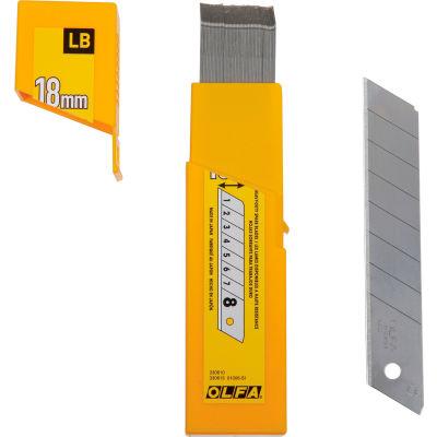 OLFA® LB-50B 18MM Heavy Duty Silver Snap-Off Blade (50 Pack)