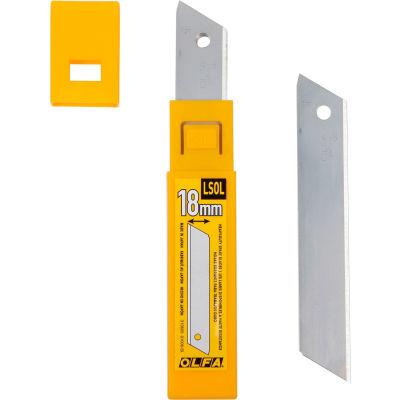 OLFA® LSOL-10B 18MM Heavy-Duty Silver Solid Blade (10 Pack)