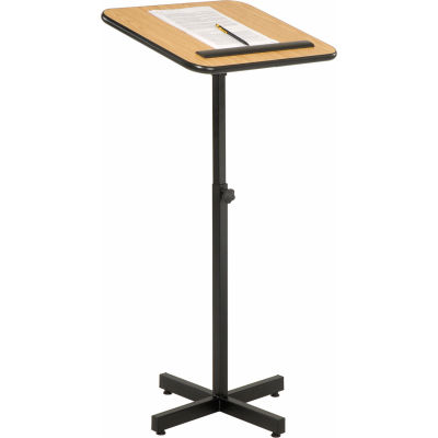 Xpediter Adjustable Podium / Lectern Stand - Medium Oak