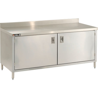 """Aero Manufacturing 2TSBOHD-2472 72""""W x 24""""D Cabinet Workbench With Hinged Doors"""