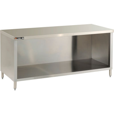 "Aero Manufacturing 4TGO-30144 144""W x 30""D Economy Flat Top Cabinet, Enclosed Base, Galv."