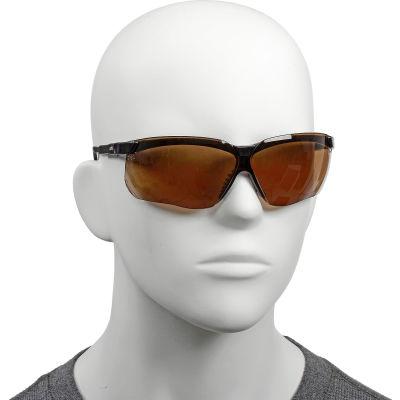 Uvex® S3201HS Genesis Anti Fog Safety Glasses, Black Frame,  Espresso HS Lens