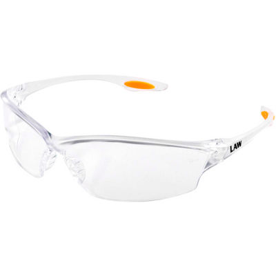 MCR Safety LW210 Law®  LW2 Safety Glasses , Clear Lens