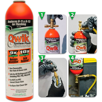 Qwik System Flush® Orange QT1100 - 2 Lb. Aerosol Container