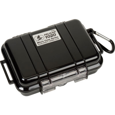 "Pelican 1020 Watertight Micro Case With Liner 6-13/16"" x 4-3/4"" x 2-1/8"", Black"