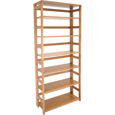 67x30 Flip Flop Bookcase - Medium Oak