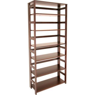 67x30 Flip Flop Bookcase - Mocha Walnut