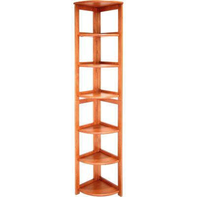 67x12 Corner Flip Flop Bookcase - Cherry