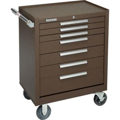 "Kennedy® 277XB K1800 Series 27""W X 18""D X 35""H 7 Drawer Brown Roller Cabinet"