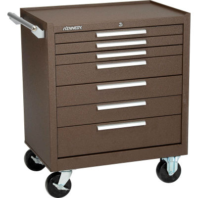 "Kennedy® 297XB K2000 Series 29""W X 20""D X 35""H 7 Drawer Brown Roller Cabinet"