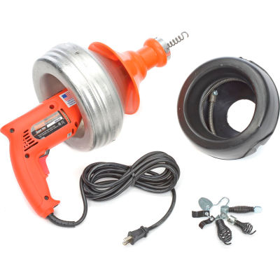 General Wire SV-B-WC Super-Vee Drain Cleaning Machine includes 2 Cables/Cutter Set & Case