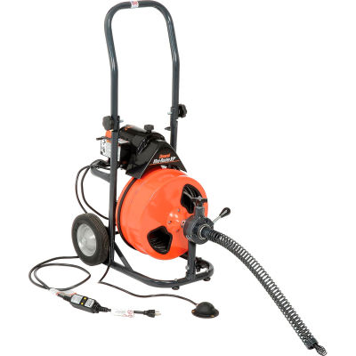 """General Wire P-XP-B Mini-Rooter XP Drain/Sewer Cleaning Machine W/ 75' x 3/8""""Cable & 4 Pc Cutter Set"""