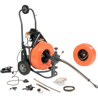 General Wire Speedrooter 92 Sewer Cleaning Machine, Includes 2 Cables & Cutter Set