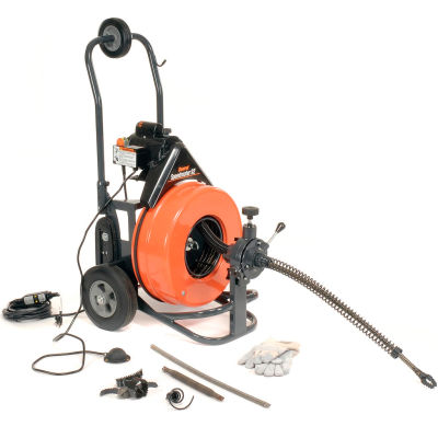 """General Wire PS-92-C Speedrooter 92 Drain/Sewer Cleaning Machine W/100'x3/4"""" Cable & 8 Pc Cutter Set"""