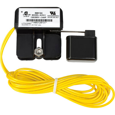 """Little Giant® Auxiliary Condensate Overflow Safety Switch - 11A, 72""""L Wire"""