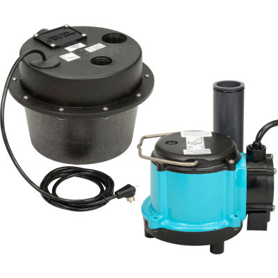 Little Giant 506065 WRSC-6 Water Removal System - Compact Drainosaur - 1/3HP - 45GPM