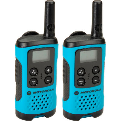 Motorola Talkabout® T100 Two-Way Radios, Neon Blue - 2 Pack