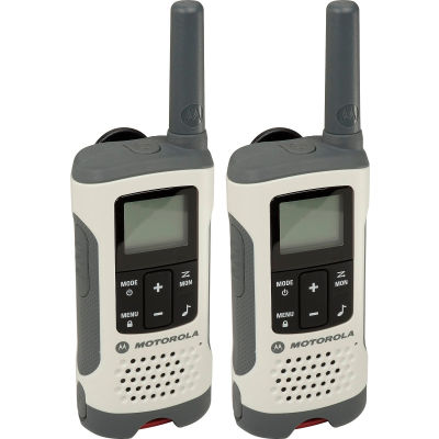 Motorola Talkabout ® T260 Rechargeable Two-Way Radios,White - 2 Pack