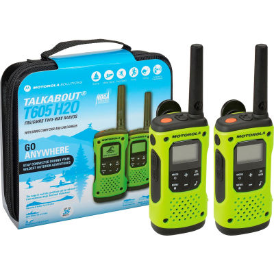 Motorola Talkabout® T605 Waterproof Rechargeable Two-Way Radios - 2 Pack