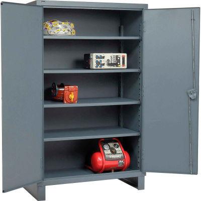 """Global Industrial™ 12 Gauge Gray Heavy Duty Cabinet, 60"""" W x 24"""" D x 78"""" H"""