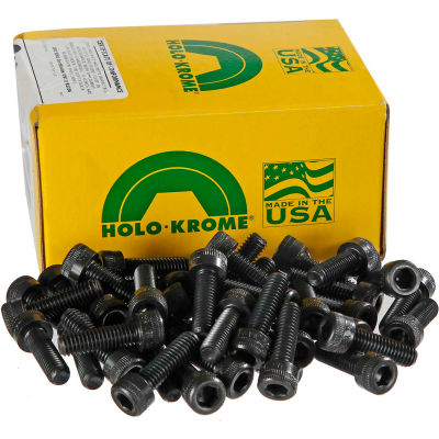 "5/16-18 x 1"" Socket Cap Screw - Steel - Black Oxide - UNC - Pkg of 100 - USA - Holo-Krome 72128"